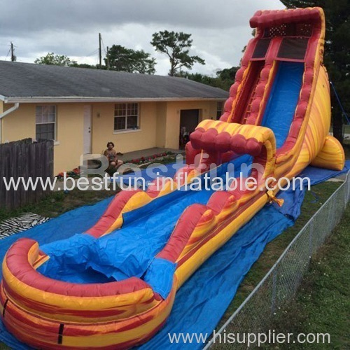 inflatable waterslide extreme fire ball long slide