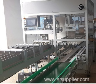 Automatic vertical packing machine with tape or glue