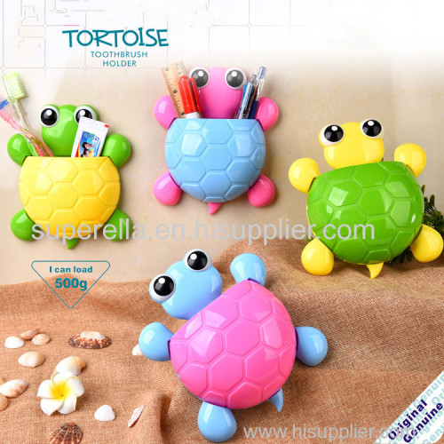 Tortoise Toothbrush Holder 4 Colors Cartoon Suction Hook Toothbrush Rack Wall Suction Holder Bathroom Sets
