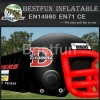 adults commercial inflatable football helmet tunnel