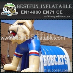 promotion large inflatable football helmet tunnel