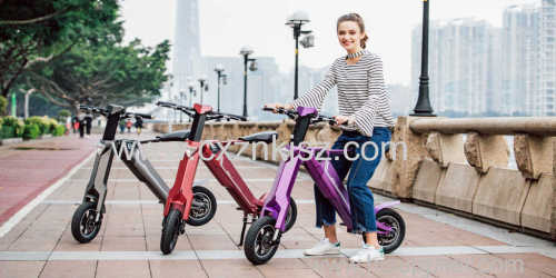 Foldable Electric Scooter Folding Electric Bicycle Adult Lithium Battery Electric Bike With Aluminum Alloy Body