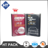 engine oil square tin can with plastic cap