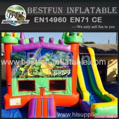 5 in 1 bounce house ninja turtles castle