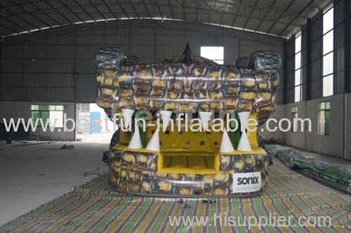 Inflatable crocodile adventure obstacle course