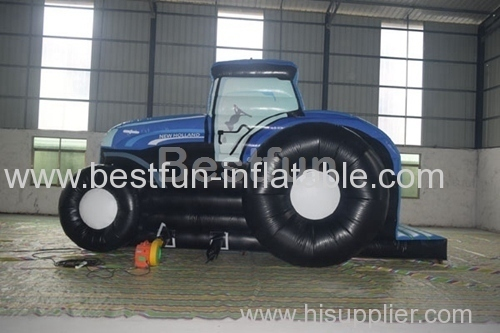 Jumping Inflatable tractor house
