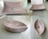 Natural stone bath sink wooden marble wash basin