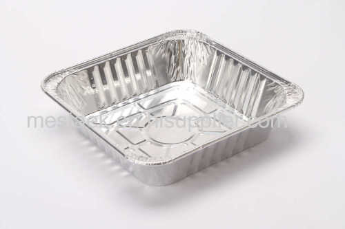 Aluminium foil container take away food container back tray disposable food container BBQ