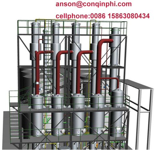 falling film evaporator mvr evaporator multiple effect evaporator wastewater treatment equipment