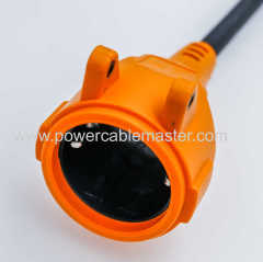 Power extension cables and Euro Power Cord with European certificate 16A Europe power cords with 2 pin plug