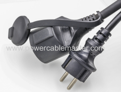 European Male To Female Electric Extension Cords 16A250V