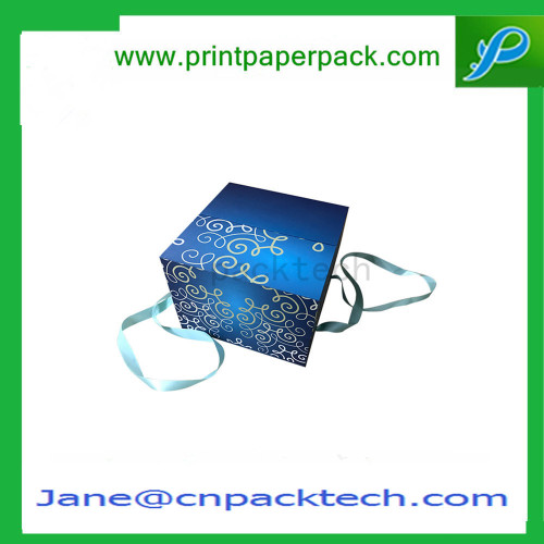 Custom Folding Paper Box Packaging Boxes Ribbon Gift Packing Box
