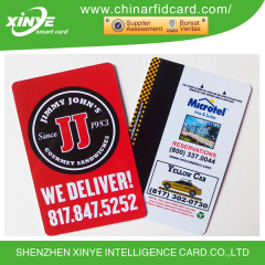 PVC compatible s50 chip ISSI 4439 rfid card with UID number printing