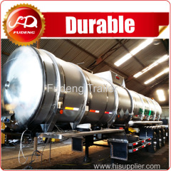 2 or 3 axles liquid chemical tanker trailers stainless steel tanker trailer for sale