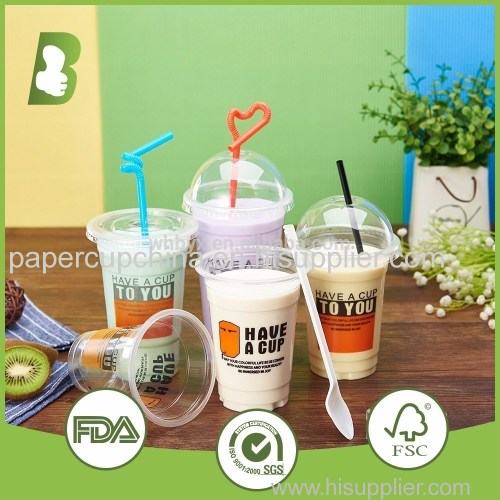 16oz Disposable Clear/Colored Plastic Cup