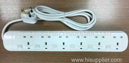 6 Overload Protection UK Extension socket Electrical power Socket With Saso