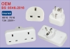 Adapter Plug EU 2 Pin to 3 Pin UK 1A Fused Electric Adaptor UK to EU EURO