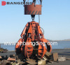 Electric Hydraulic orange peel grab bucket for handling scrap bulk cargo
