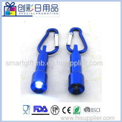 Mini led torch flashlight with carabiner keychain