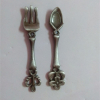 Vintage metal souvenir spoons and forks for collectible arts
