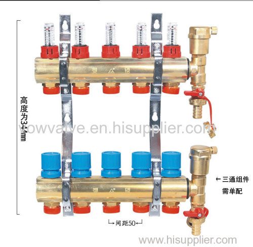 Heating manifold for pex pipe