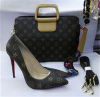 Classical high heel laides shoes and matched handbag