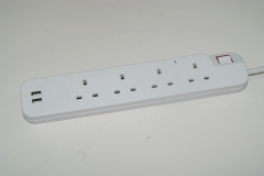 UK 110v surge protector 2 usb power strip