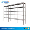 Steel slotted angle shelving for warehouse storage