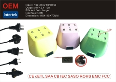 High Quality 6 Port USB Charger mobile charger