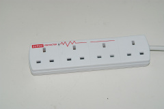 Multi-function universal outlet extension socket with Surge Protection