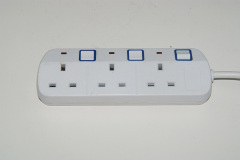 3 gang uk 16a power extension socket