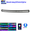 "Nicoko 32""180W Curved Bluetooth APP Controlled LED work Light Bar with RGB chasing for Tractor Truck Indicators"