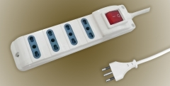 Italy 3pin power plug to 3way good quality socket