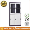 professional production half height two glass sliding door steel file cabinet with low price