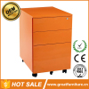 Colorful Office Equipment for A4 File Cabinet 3 Drawer Mobile Pedestal For Sale