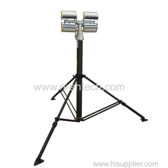 4x50W LED lamps mounted fold down pneumatic telescopic mast tower lighting