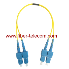 SC to SC Single Mode Duplex Fiber Optical Patch Lead 3M