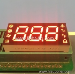 Custom ultra red triple digit 7 segment led display for refrigerator control panel