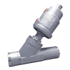 Welded Pneumatic Angle Seat Valve with Stainless Steel Actuator