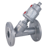 Flanged Pneumatic Angle Seat Valve with Stainless Steel Actuator