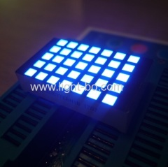 Ultra bright blue 3mm 5*7 sqaure dot matrix led display row cathode column anode for elevator floor indicator