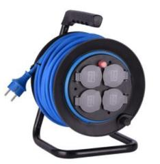 NEW cable drum 40M French/German Cable Reel with 4 socket-outlets with over-load protection and children