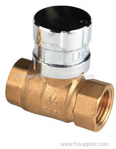 Brass Magnetic Lockable Ball Valve BS21 Standard