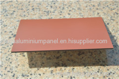 3mm Advertising Signage Both-side Coated Red ACP/Aluminum Composite Panel