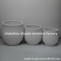 rough ceramic flower pot indoor flower pot for home decor