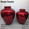 red ceramic vase table vase indoor artificial flower vase