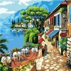 Scenery Frameless Wall Picture Painting by Numbers Canvas Painting Home Decor Paint by Numbers
