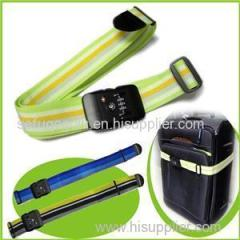 Nylon Durable Rainbow Luggage Strap With Combination Lock