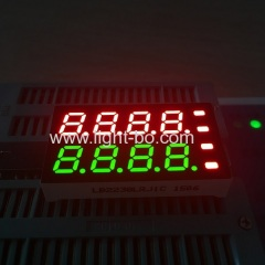"Custom Super red & Super Green 8 digit 7mm(0.28"") 7 segment led display for Temperature Humidity Indicator"