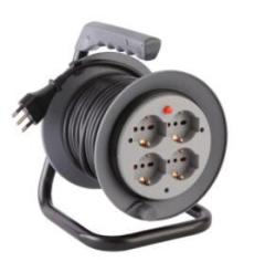 CE 30M cable reel double Italy socket outside cord reel
